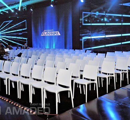 wynajem bialych krzesel eventowych MAYA popularne krzesła na wynajem