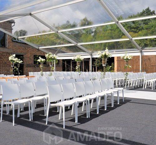 wynajem bialych krzesel eventowych MAYA white na eventy