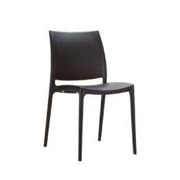 wynajem krzesel czarne krzesla maya black 1