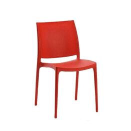 wynajem krzesel czerwone krzesla maya red 1