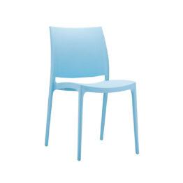 wynajem krzesel niebieskie krzesla maya blue 1