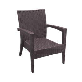 wynajem foteli fotel ogrodowy miami brazowy brown