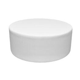 wynajem puf pufa pinna round white okragla biala