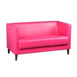 wynajem sof sofa rozowa skorzana mio duo pink