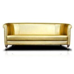wynajem sofa sofa zlota classic trio gold