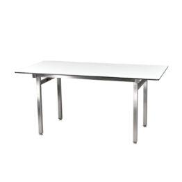 wynajem stolow wypozyczalnia stol bialy brook 160 inox