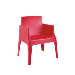 wynajem krzesel krzesla ogrodowe czerwone box 1