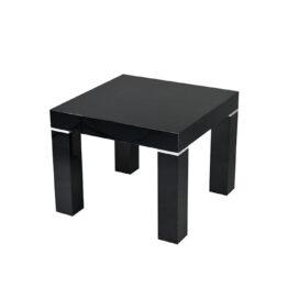 czarny stolik eventowy kawowy imperial black 60 wynajem