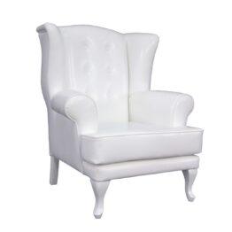wynajem foteli fotel bialy klasyczny royal white 1