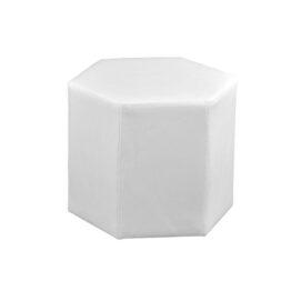 wynajem puf hexa white 01