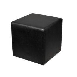 wynajem puf pufa pinna black skorzana czarna 1