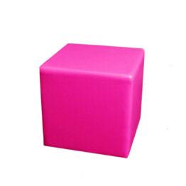 wynajem puf rozowa pufa skorzana pink